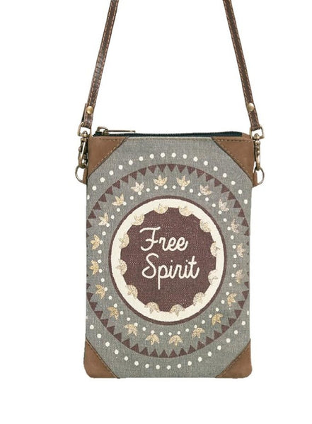 Free Spirit Crossbody Up-Cycled Canvas-FASHION-PropShop24.com