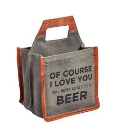 Of Course Beer Caddy Up-Cycled Canvas-FASHION-PropShop24.com