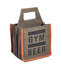 Gym Beer Caddy Up-Cycled Canvas-FASHION-PropShop24.com
