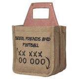 Friends And Football Beer Caddy Up-Cycled Canvas-FASHION-PropShop24.com