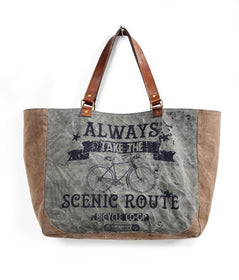 Scenic Route Up- Cycled Canvas Weekender-FASHION-PropShop24.com