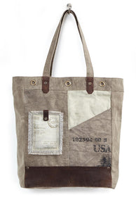 Tahoe Up- Cycled Canvas Tote-FASHION-PropShop24.com