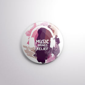 Badge - MUSIC BRINGS RELIEF-Home-PropShop24.com