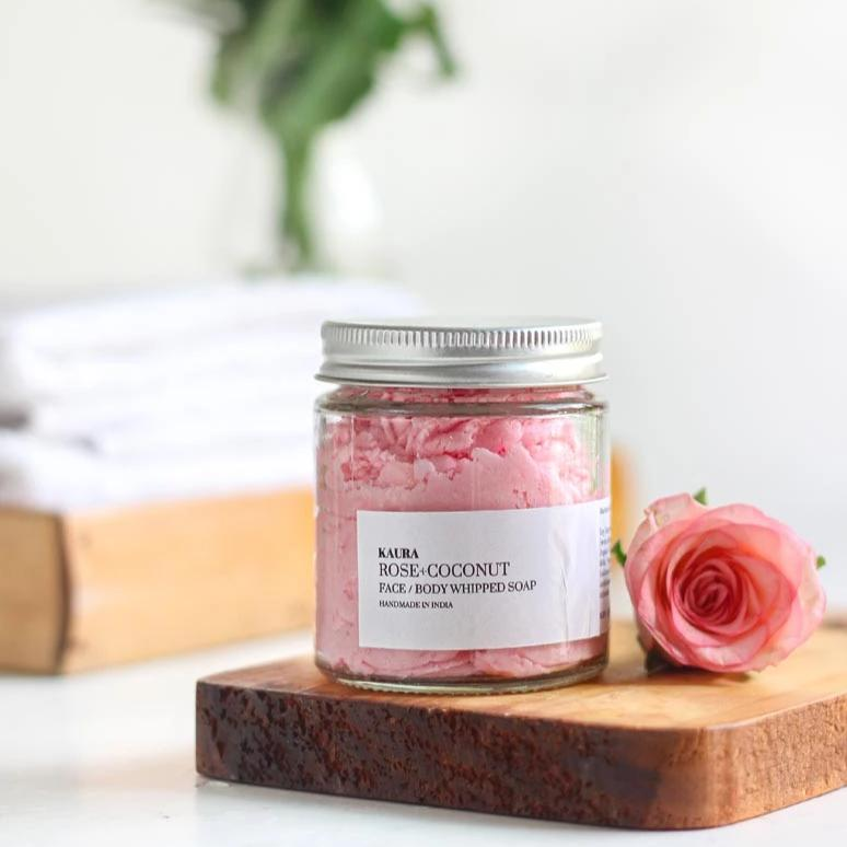 Rose Coconut Whipped Soap - 70G-WOMEN-PropShop24.com