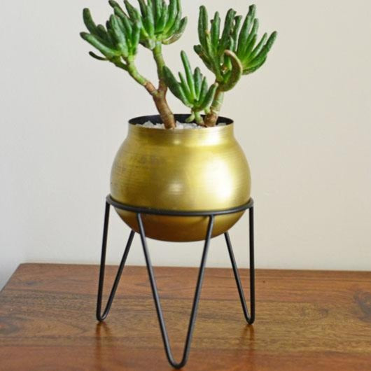 Crescent Succulent Planter With Stand-HOME ACCESSORIES-PropShop24.com
