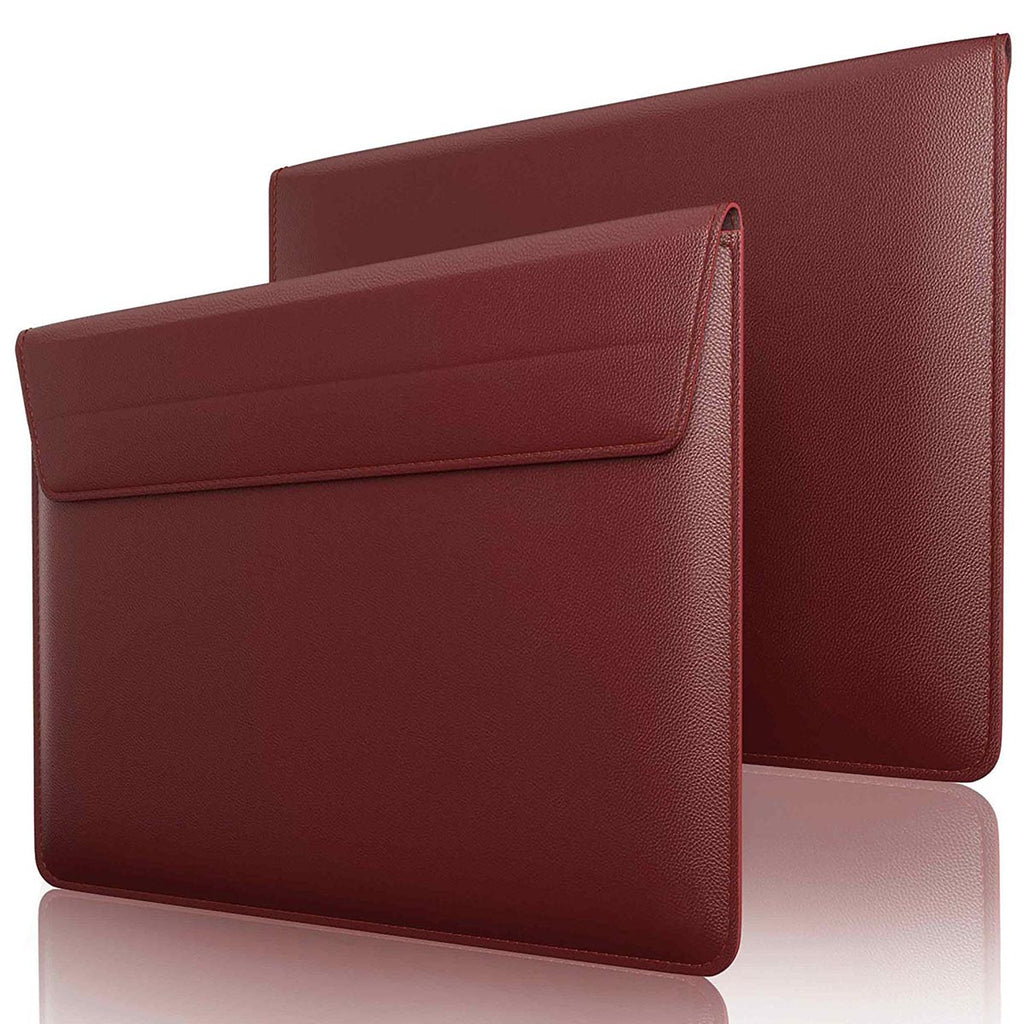 detailed look e1b90 6d230 Leather Sleeve Case for MacBook Air 13 Inch - Maroon