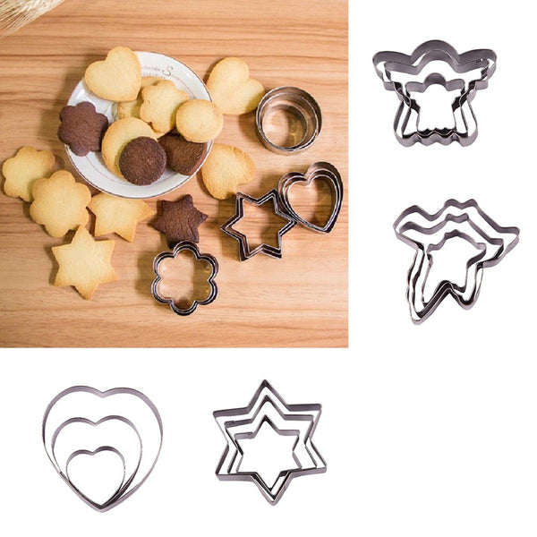 Metal Cookie Cutter - Set of 12-HOME-PropShop24.com