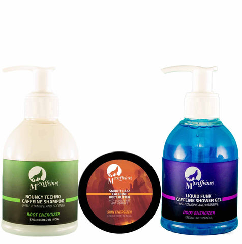 Shampoo + Shower Gel  + Body Butter -  Morning Charger Pack