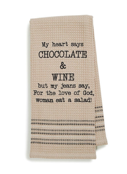 Chocolate and Wine Dish Towel - Set of 2-HOME-PropShop24.com