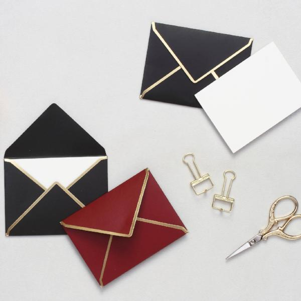 Personalised Mini Notecards With Envelopes - Burgundy & Black - C.O.D Not Available-STATIONERY-PropShop24.com