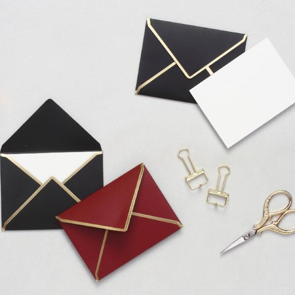 Mini Notecards With Envelopes - Burgundy & Black-STATIONERY-PropShop24.com