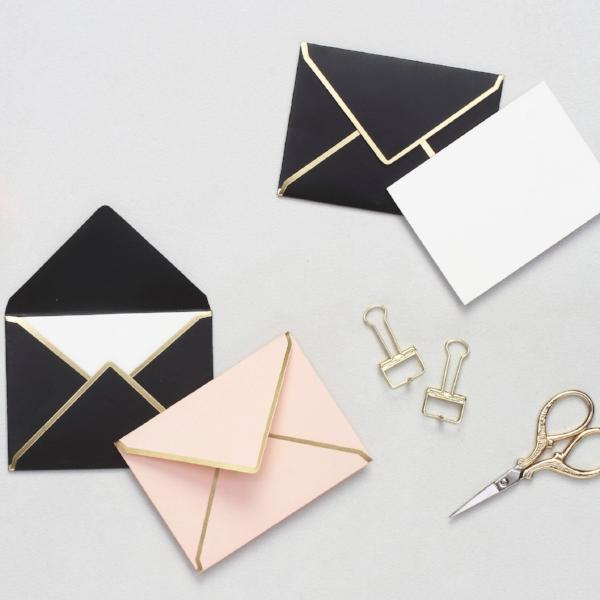 Personalised Mini Notecards With Envelopes - Blush & Black - C.O.D Not Available-STATIONERY-PropShop24.com