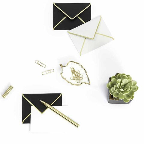 Mini Notecards with Envelopes - Black & Grey-STATIONERY-PropShop24.com