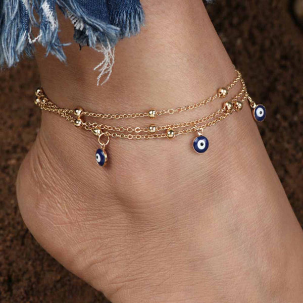 Mirielle Layered Anklet-JEWELLERY-PropShop24.com