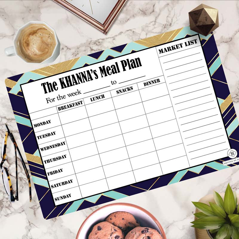 Personalized Rewritable Meal Plan Magnet - Decadence Magnum- C.O.D Not Available-NOTEBOOKS + JOURNALS-PropShop24.com