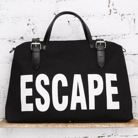 Canvas Bag - Escape - Black-FASHION-PropShop24.com