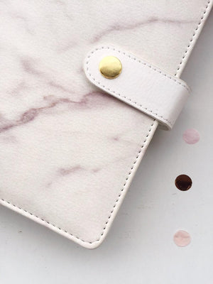 Journal- Premium Marble Leather Journal Notebook - Mixed Pages-NOTEBOOKS + JOURNALS-PropShop24.com
