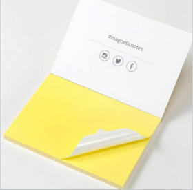 Magnetic Sticky Notes Yellow-Stationery-PropShop24.com