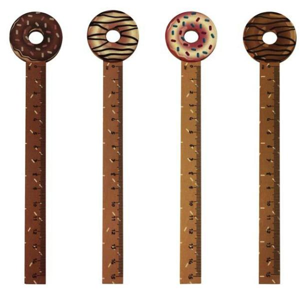 Wooden Ruler - Doughnut Set Of 4-DESK ACCESSORIES-PropShop24.com