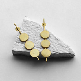 Earrings - One two three - Golden-JEWELLERY-PropShop24.com