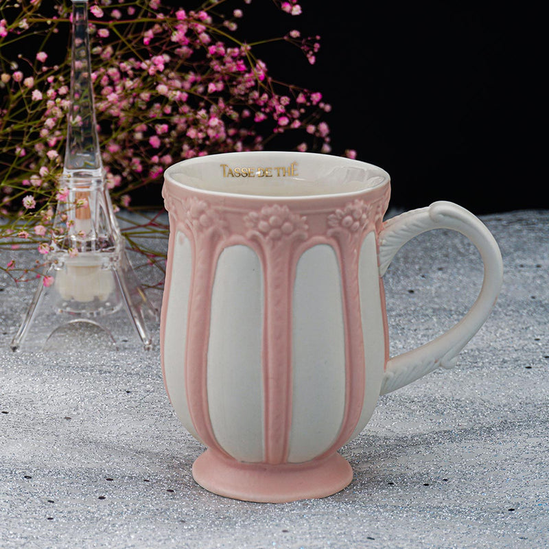 Decorative Vintage Porcelain Tea And Coffee Mug - Vertical Stripes-DINING + KITCHEN-PropShop24.com