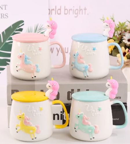 Unicorn Mug With A Lid-DINING + KITCHEN-PropShop24.com