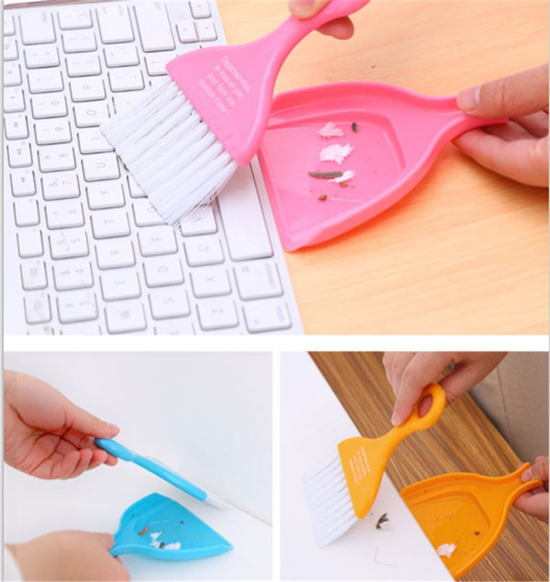 Multipurpose Cleaning Brush With Dustpan - Assorted-DINING + KITCHEN-PropShop24.com