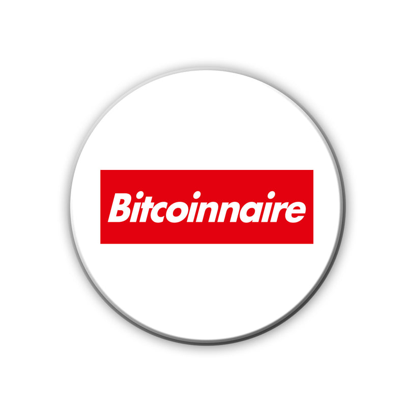 Badge/Magnet - Bitcoinnaire-MEN-PropShop24.com