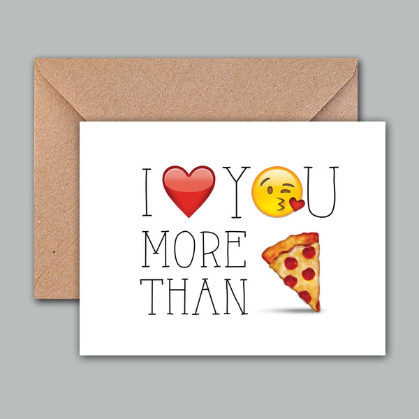 Greeting Card - More than pizza-Gifting-PropShop24.com