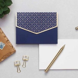 Geometric Notecard Set - Indigo Blue-GIFTING ACCESSORIES-PropShop24.com