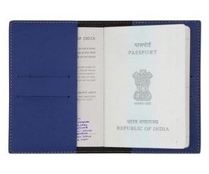 Personalized - Passport Cover With Charms - Navy Blue - C.O.D Not Available-TRAVEL ESSENTIALS-PropShop24.com