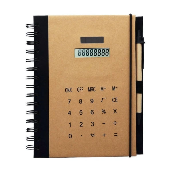 Notebook with Calculator - Assorted-STATIONERY-PropShop24.com