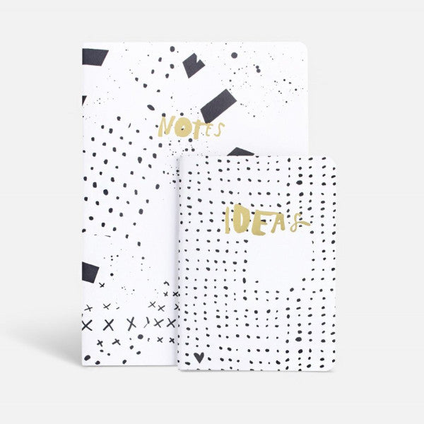 Notebooks - Notes & Ideas - Set Of 2-STATIONERY-PropShop24.com