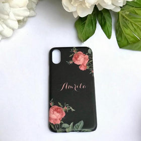 Personalised - English Rose Phone cover - Black - iPhone X - C.O.D NOT AVAILABLE-GADGETS-PropShop24.com