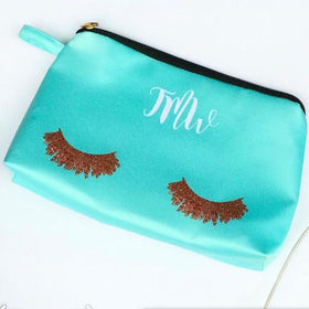 Personalised - Lashes makeup pouch - Green - C.O.D NOT AVAILABLE-FASHION-PropShop24.com