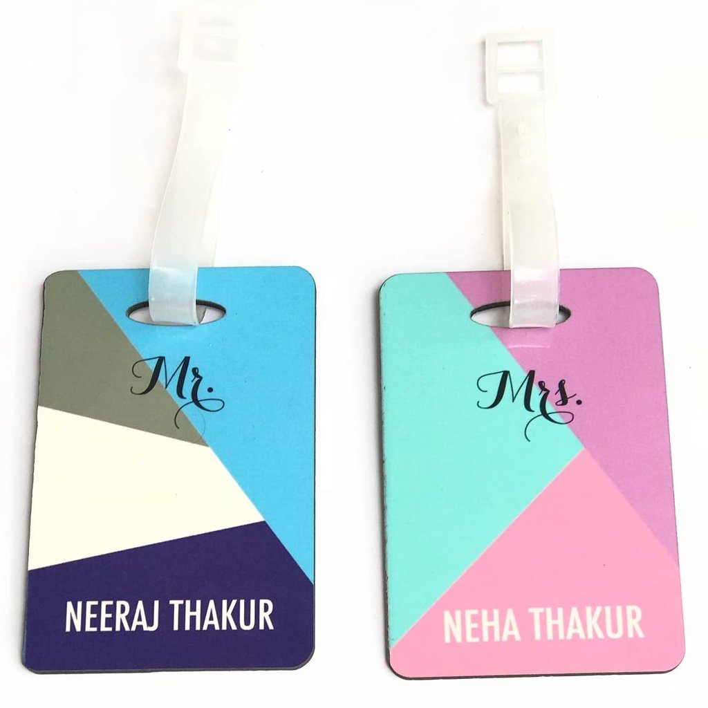 Personalised mr mrs luggage tags set of 2 c o d not available fashion