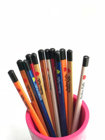 Personalised Pencils - Metalic - Set of 12 - C.O.D NOT AVAILABLE-STATIONERY-PropShop24.com