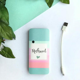 Personalised - Pastel Stripes-Powerbank - C.O.D NOT AVAILABLE-GADGETS-PropShop24.com