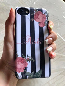 Personalised - Stripes Rose Phone cover - iPhone X - C.O.D NOT AVAILABLE-GADGETS-PropShop24.com