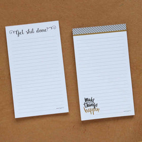 Notepad - Set of 2 - Make Things Happen & Get Shit Done-STATIONERY-PropShop24.com