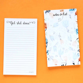 Notepad - Set of 2 - Get Shit Done & Notes & List-STATIONERY-PropShop24.com