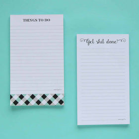 Notepad - Set of 2 - Get Shit Done & Things To Do-STATIONERY-PropShop24.com