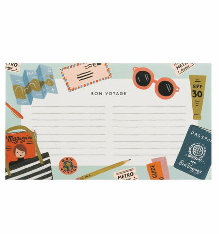 notepad - travel - bon voyage-Stationery-PropShop24.com