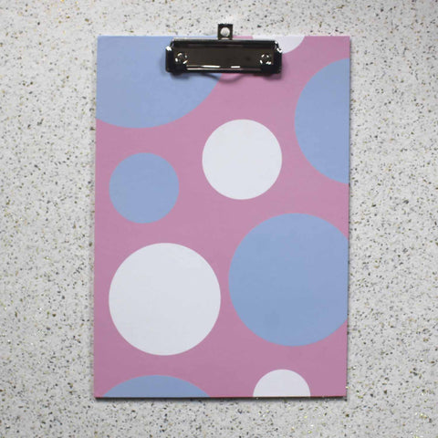 Writing Board - Pink Polka