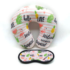 Neck Pillow with Eye Mask - Hello Love-FASHION-PropShop24.com