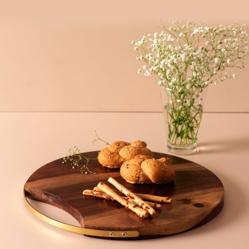 Dessert Cheese Serving Platter - Sheesham-DINING + KITCHEN-PropShop24.com