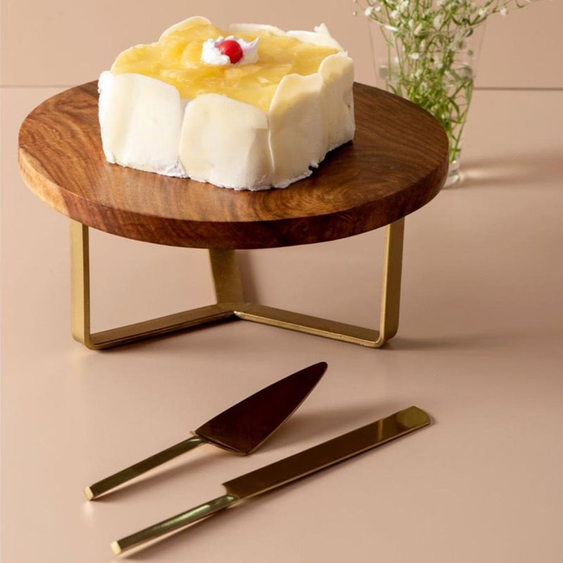 Cake Stand With Cake Server And Knife - Set Of 3-DINING + KITCHEN-PropShop24.com