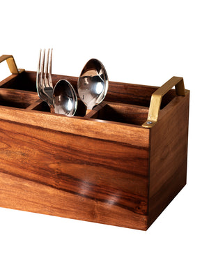 Cutlery Holder Stand And Wooden Napkin Holder - Set Of 2-DINING + KITCHEN-PropShop24.com