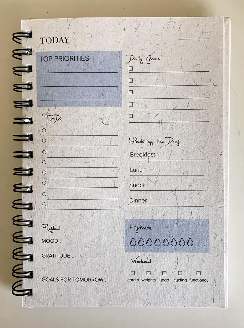 Daily Planner - Hot Air Balloon - Comprehensive Design-NOTEBOOKS + PLANNERS-PropShop24.com