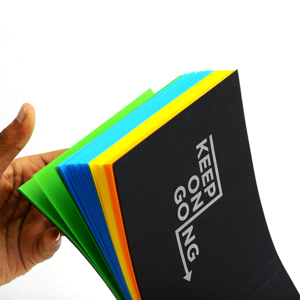 Notepad - Keep On Going Multicolor-STATIONERY-PropShop24.com